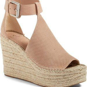 MARC FISHER Annie Perforated Wedge Sandals--8